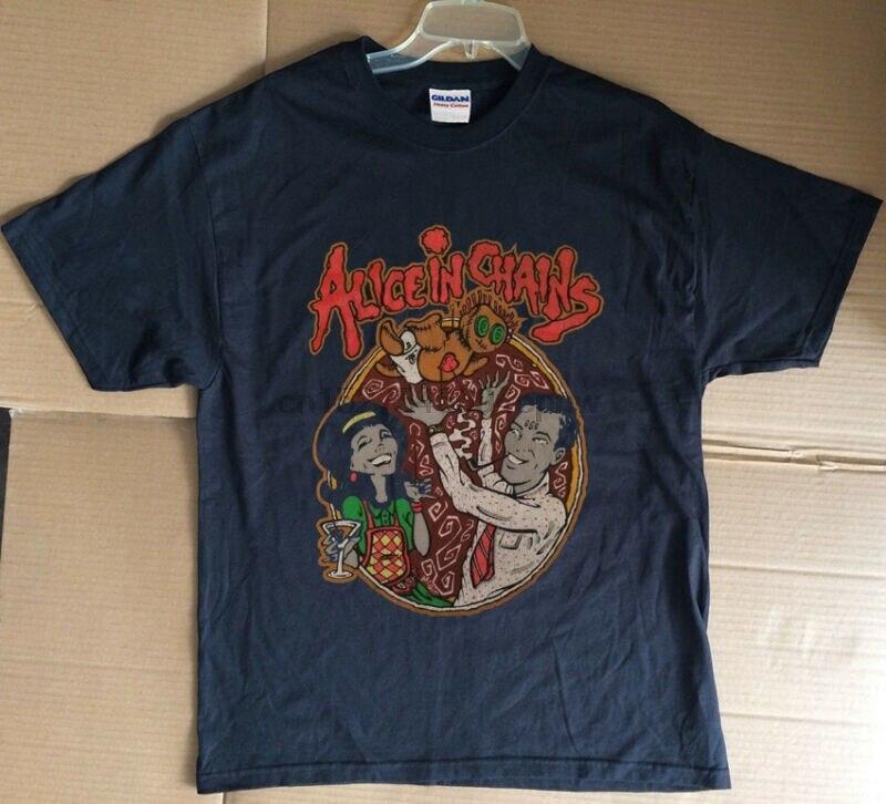 Rare Vintage 90s Alice dans les chaînes Layne Staley Tour 1996 réimpression t-shirt AIC
