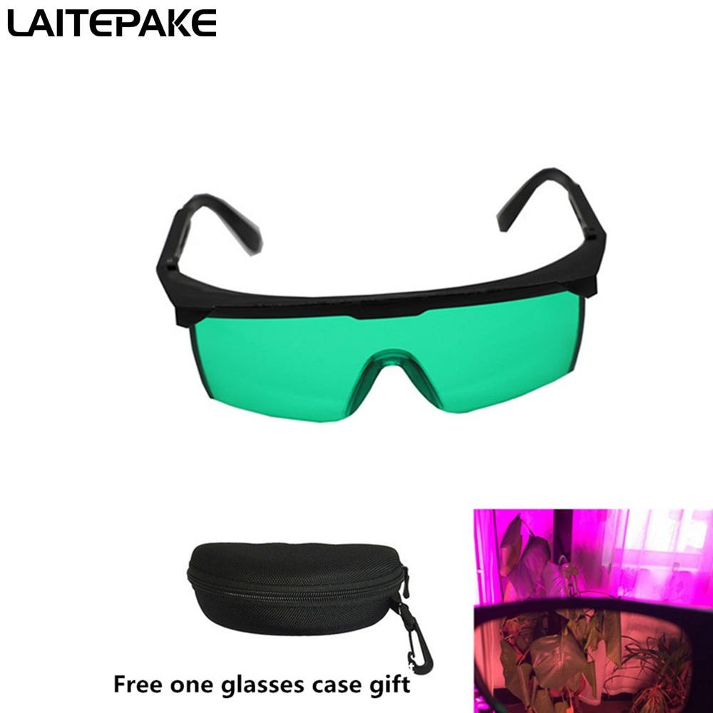Gafas led polarizadas para cultivo de luz UV para carpa, planta hidropónica de invernadero, gafas protectoras para ojos, Estuche para gafas gratis