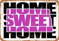 SRongmao     panneau metallique 8x12  violet  maison douce  Dakota du nord