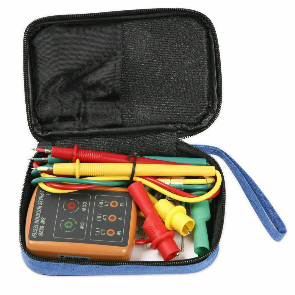 DishyKooker SM852B 3 Secuencia de fase rotación probador LED indicador de medidor de comprobación (sin batería)