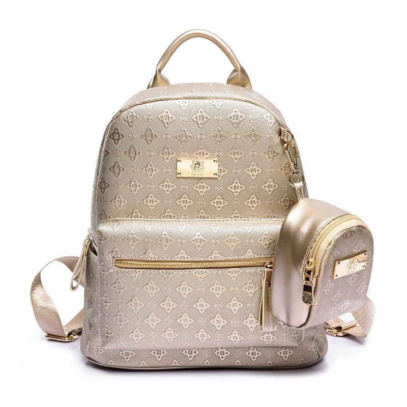 المشاهير موضة حقيبة الظهر مصمم العلامات التجارية النساء الرجال حقيبة مدرسية للمراهقين فتاة كلية حقيبة كتف 2020 الذهب السفر Packbag