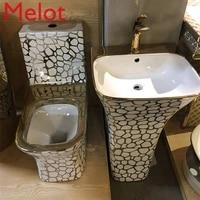 ceramic gold color toilet bowl bathroom golden wc toilet black and gold toilet