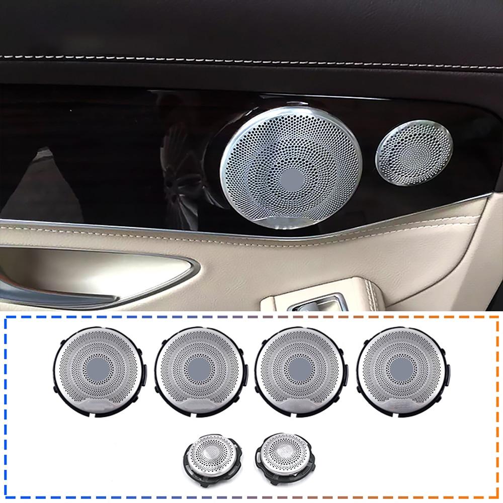 6 uds altavoces de audio cubierta para W213 W205 GLC Mercedes Benz AMG E C clase coche puerta tweeter pegatinas embellecedor de alta calidad reemplazo