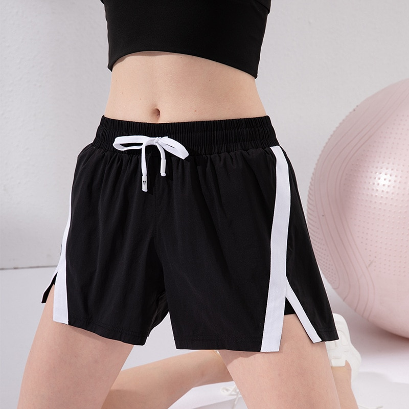 Lu Ai 2021 NEW Loose sports shorts Squat Proof gym running wear quick dry fake two-piece yoga athletic shorts pants S-L