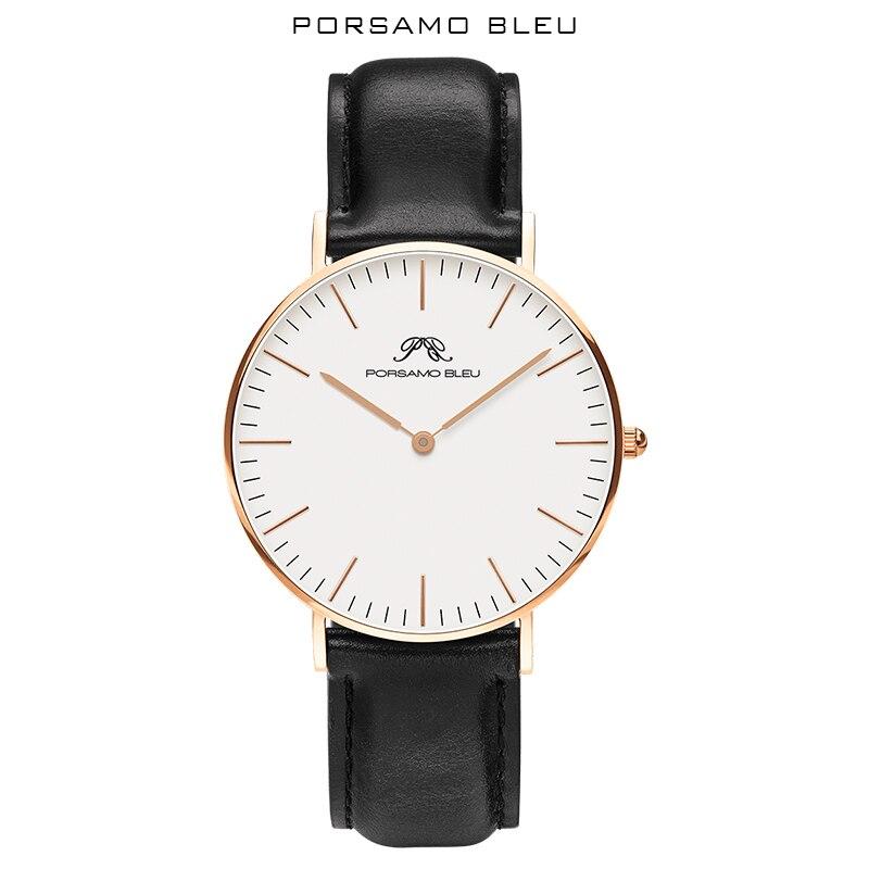 36mm zegarki damskie luksusowa moda kobieta zegarek kwarcowy na rękę panie skórzany wodoodporny zegar dziewczyna Relogio Feminino