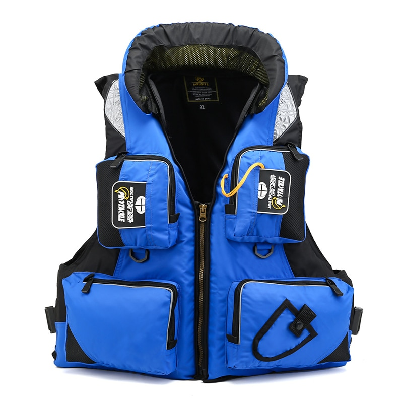 Life Jacket Unisex Polyester Swimming Life Vest L-XXL 2021 Fishing Vest Outdoor Sport Safety Life Jacket Drifting Boating Kayak