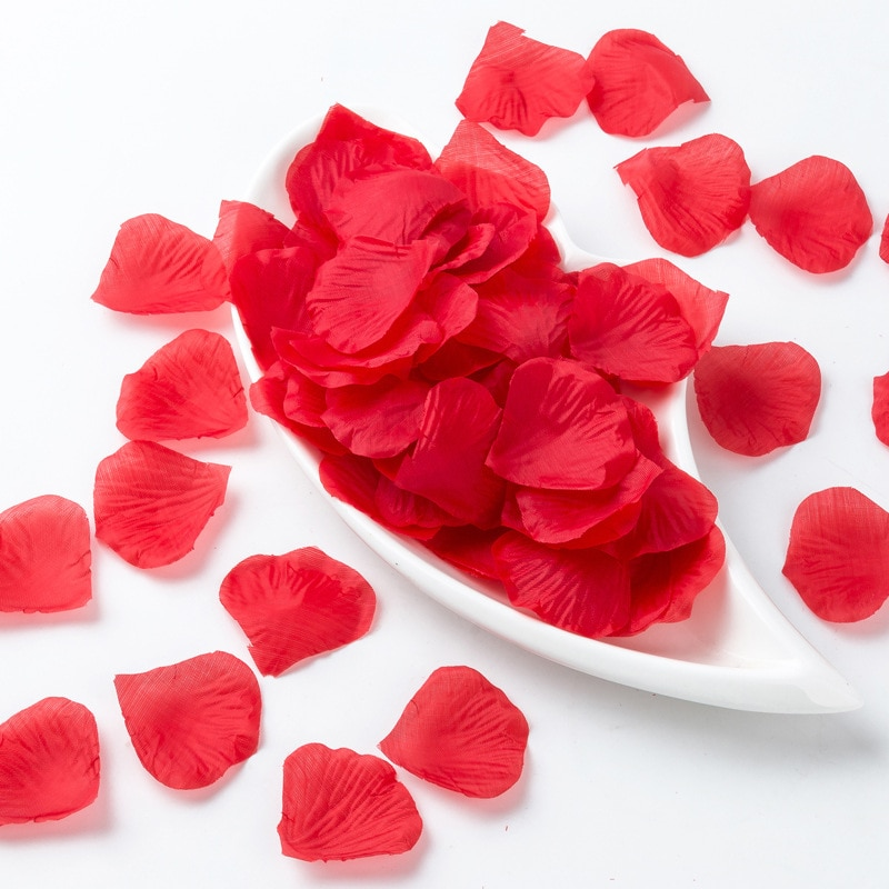 1000PCs Fake Rose Petals DIY Party Decorations naturArtificial Flowers Romantic Wedding Marriage Accessories For Valentine Gift
