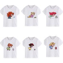 Nouvelles étagères enfants vêtements beaucoup petite princesse nouveauté enfants T-shirt mignon Vogue fille T-shirt col rond Harajuku décontracté unisexe