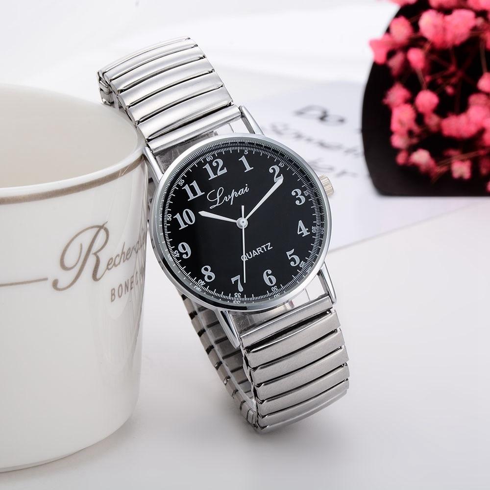 Stainless Steel Quartz Wristwatches Woman Fashion Ladies Women Unisex Stainless Steel Quartz Wrist W