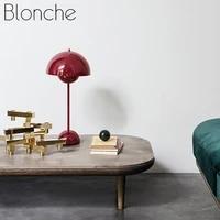 Lampe de Table moderne pour chambre a coucher  lampe de chevet pour Restaurant  decoration de maison  Pot de fleurs  eclairage de Table  Art deco