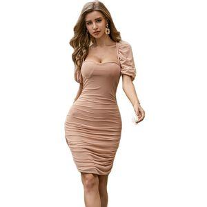 Sexy Bodycon Summer Dress 2020 Short Sleeve Bandage Dress Party Casual Beach Dress Short