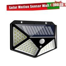 solar led outdoor lighting 100 LED garden solar Street Light With Controller Color Adjustable Wall Motion Sensor Detector for Ba