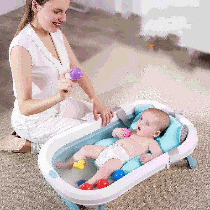 أحواض استحمام للأطفال متعددة الوظائف قابلة للطي حوض استحمام للأطفال قابل للحمل من البلاستيك للأطفال الرضع WY72907