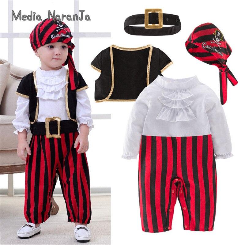 Halloween Boys Set Cosplay Children's Pirate Costume Dance Boys Set Children Boys Clothes Baby's Sets Christmas Gift