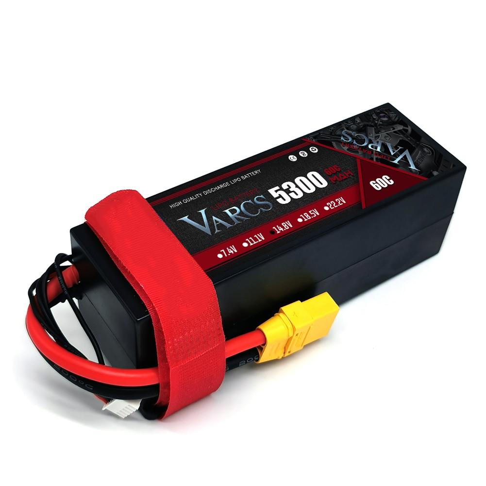 2PCS VARCS  Lipo Batteries 4S 14.8V 5300mAh 60C/130C HardCase for RC 1/8 /10 Car Off-Road Buggy Truck Boats Drone salash Parts enlarge