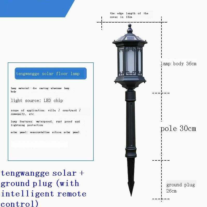 Terraza y Tuinlamp Lampe Exterieur Para Tuin Verlichting Tuinverlichting Luce De LED Decoracion Jardin Exterior Garden Light enlarge