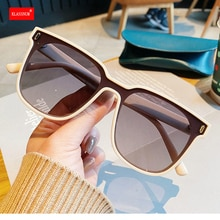 1PCs New Oversized Square Sunglasses Rivet Women Sunglass Men Vintage Colored Sun Glasses Shades Bla