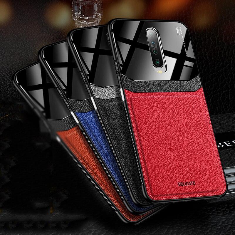 Fundas traseras mate para xiaomi mi K30 K20 Note 8T 8 7 Pro 8A carcasa de acrílico híbrida de cuero para mi Note 10 9 9T Pro 8 Lite