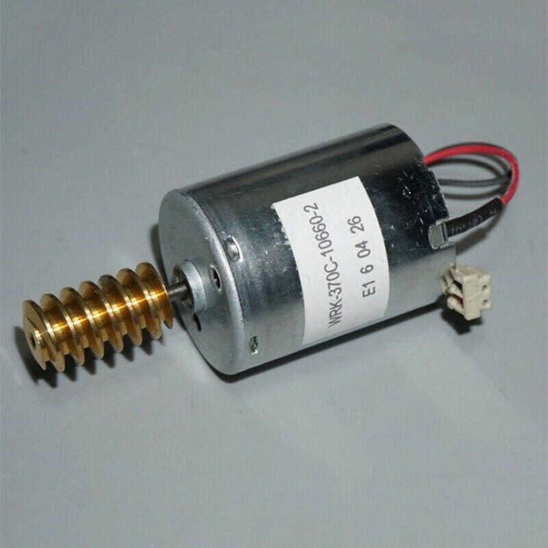 RK-370C-10660 DC12V-24V, Micro Motor eléctrico de 24mm, engranaje de tornillo sin fin de cobre, eje de tornillo