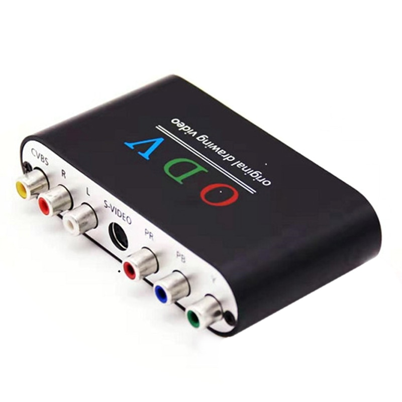 ODV مركب RCA/S-Video/YPbPr ل HDMI-متوافق محول ل مايكرو USB RCA موصل ستيريو الصوت ل ريترو وحدة التحكم CNIM Ho