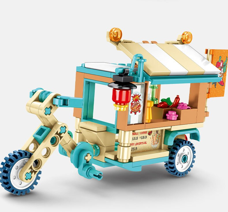 Senbao bloques de construcción mini street view helado friut vegatable bebida pastel comida comedor coche niños juguetes de montaje