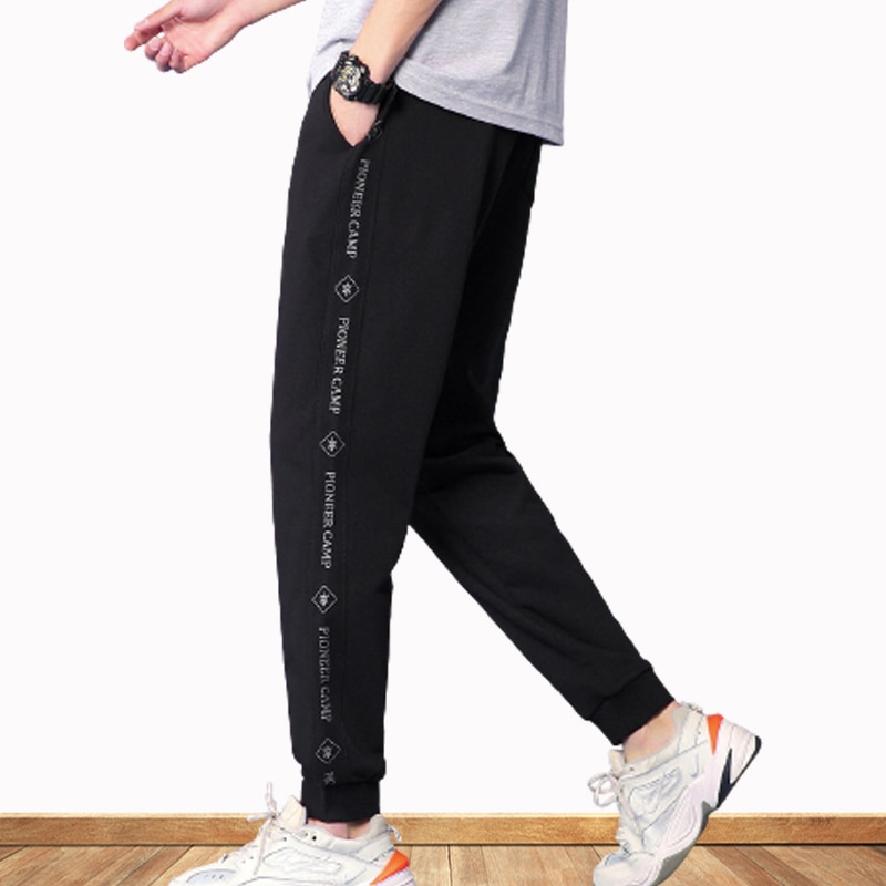 Men's Casual Pants Letter Stitching Beam Pants Knit Pants Loose Dports Running Pants 2021 Spring And Summer New  - buy with discount
