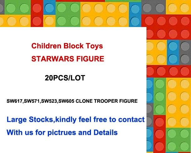20 PÇS/LOTE SW605,SW523,SW617,sw578, conjunto bloco de construção de brinquedos para as crianças como gfits sw585