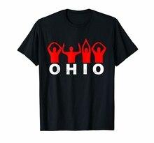 США Огайо State Home Pride мужские S-3Xl США 100% хлопок Высокое качество Повседневная футболка с принтом