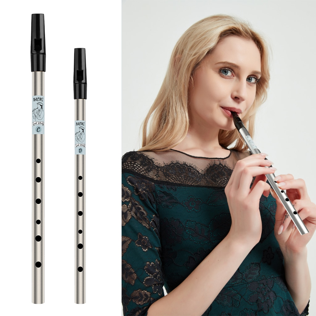 NAOMI Irish Whistle Tin Whistle Nickel-plated Brass Tube High C Scottish Penny Whistle Six-holed Flageolet For Whistler