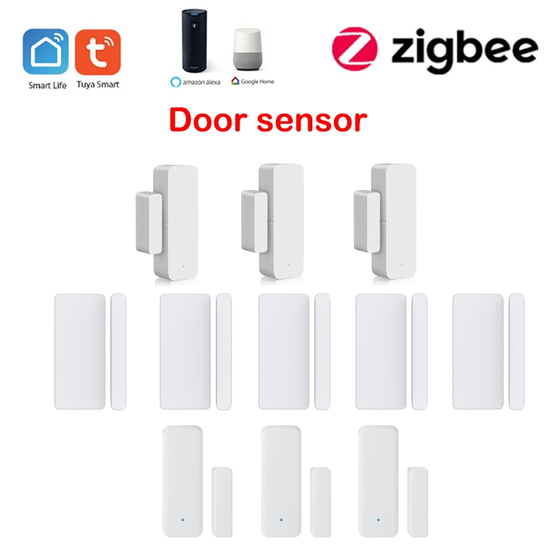5pcs zigbee door sensor tuya wifi door window sensor detector smart home Security app Alarm monitor compatible alexa google home