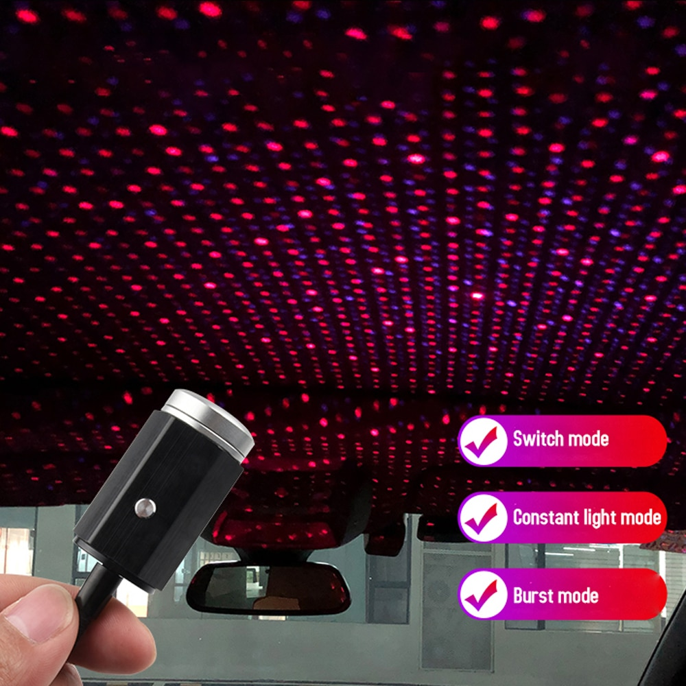 LED Car Roof Star Night Light Projector Usb Laser Star More Than Ambient Lighting Atmosphere Lights