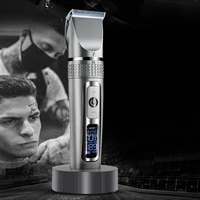 lcd monitor battery rechargeable sitting hair clipper head scissors barber shop professional electric clipper drive