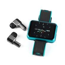 Luxus Version!! 2 in 1 Smart Uhr TWS Ohrhörer T91 Stereo Kopfhörer Bluetooth 5,0 TWS Sport Lauf Workout Gym Armband IPX6