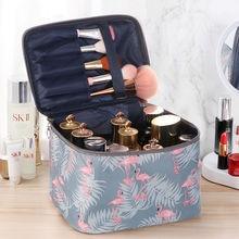 New Fashion Cosmetic Bag Women Waterproof Flamingo Makeup Bags Travel Organizer Toiletry Kits Portab