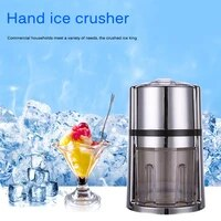 manual ice crusher hand crank ice grinder with non slip base portable ice chopper