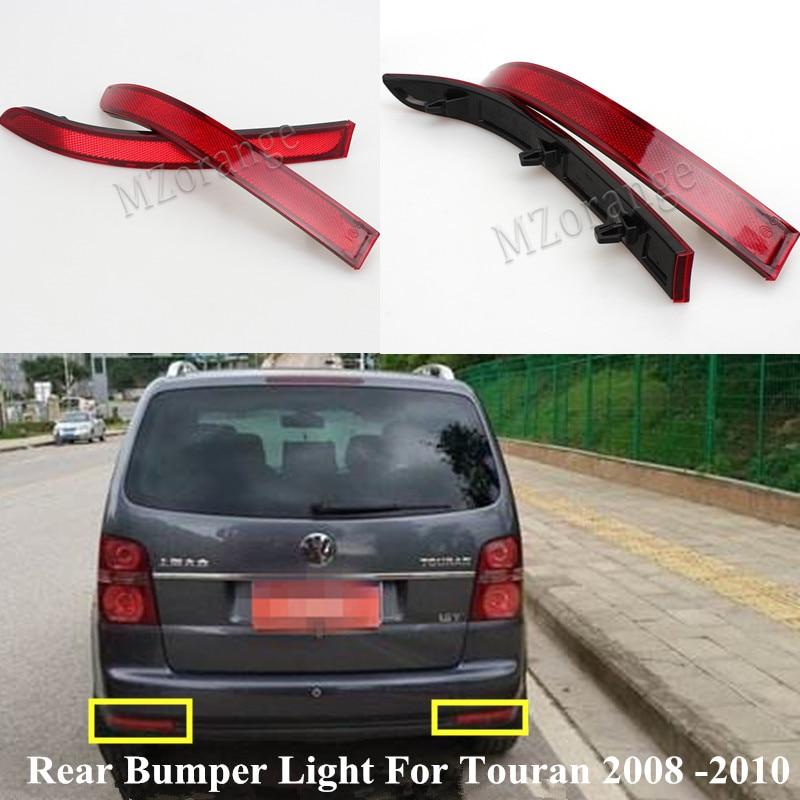 MZORANGE Reflector de parachoques trasero lámpara de freno para Touran 2008 2009 2010 luz falsa roja luces decorativas de alta calidad al por mayor