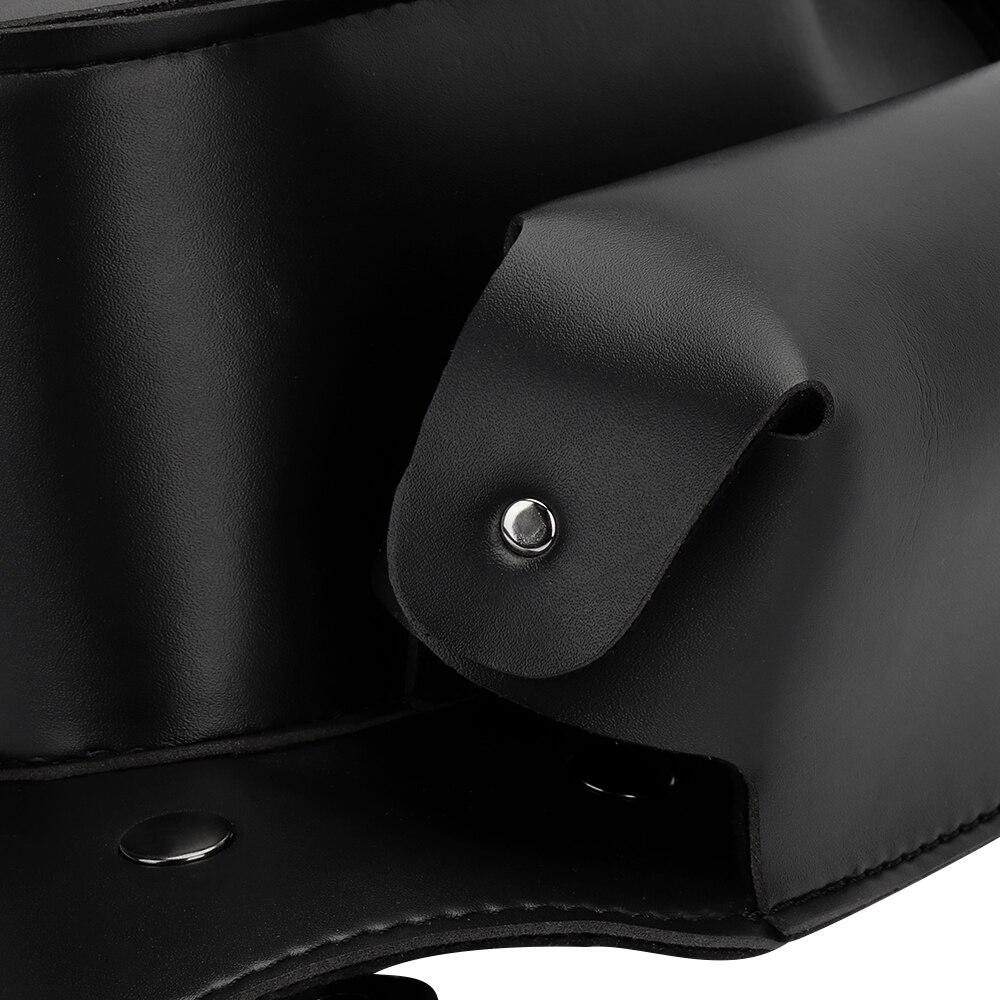 Bar Saddlebag Leather Motorcycle Saddle Bag Crash Guard Bag Waterproof Water Bottle Holder For Road King For Electra Glide
