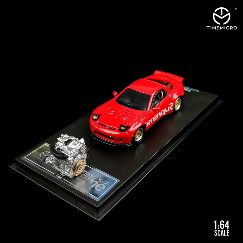 methanol generator fuel engine small micro internal combustion engine oil moving model educational toy mini engine Time Micro 1/64 Model Car Mazda RX-7 Alloy Die-Cast Car Collection Gifts Toy Pack with Engine