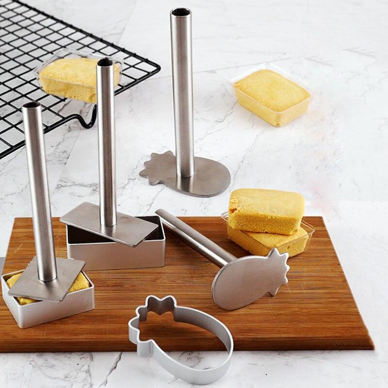 10 шт./компл. форма для печенья, форма прямоугольная/эллипса/ананаса, форма для выпечки тортов, печенья, штамп, формы, кондитерские инструмент...