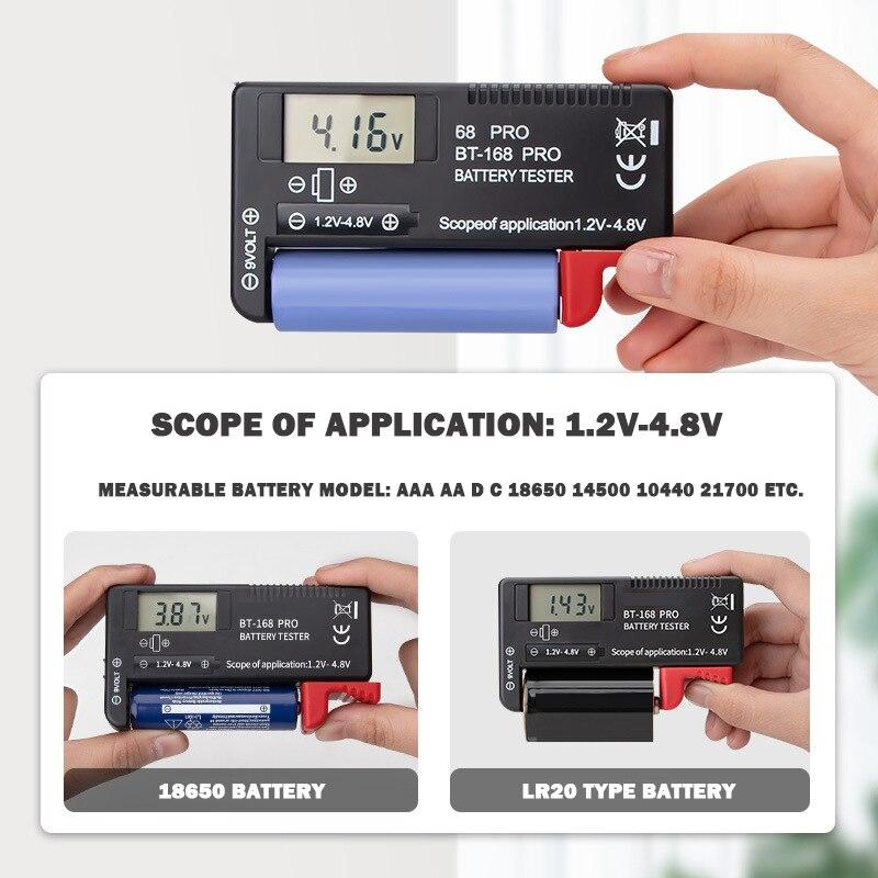 Hot -168 pro de alta precisão testador de capacidade da bateria de lítio display digital instrumento de medição de bateria analisador de carga display