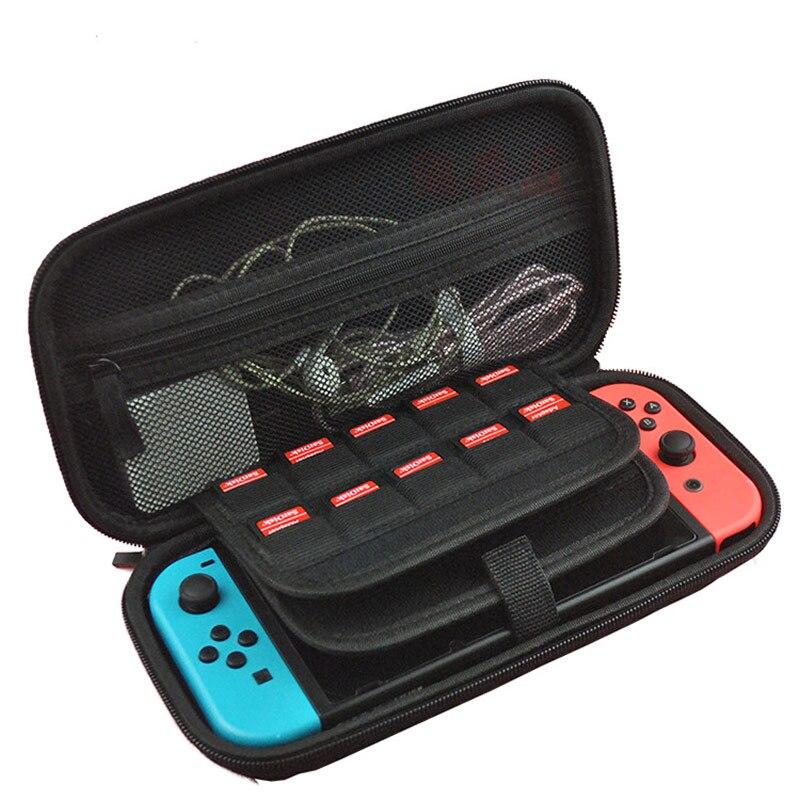 Estuche de transporte para Nintendos Switchs EVA bolsa protectora de almacenamiento para NS estuche de viaje y transporte portátil con 20 ranuras para tarjetas de juego