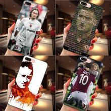 Für Apple iPhone 4 4S 5 5S SE 6 6S 7 8 Plus X XS Max XR schöne Kunststoff Hart Handy Zubehör Fall Francesco Totti Als Roma