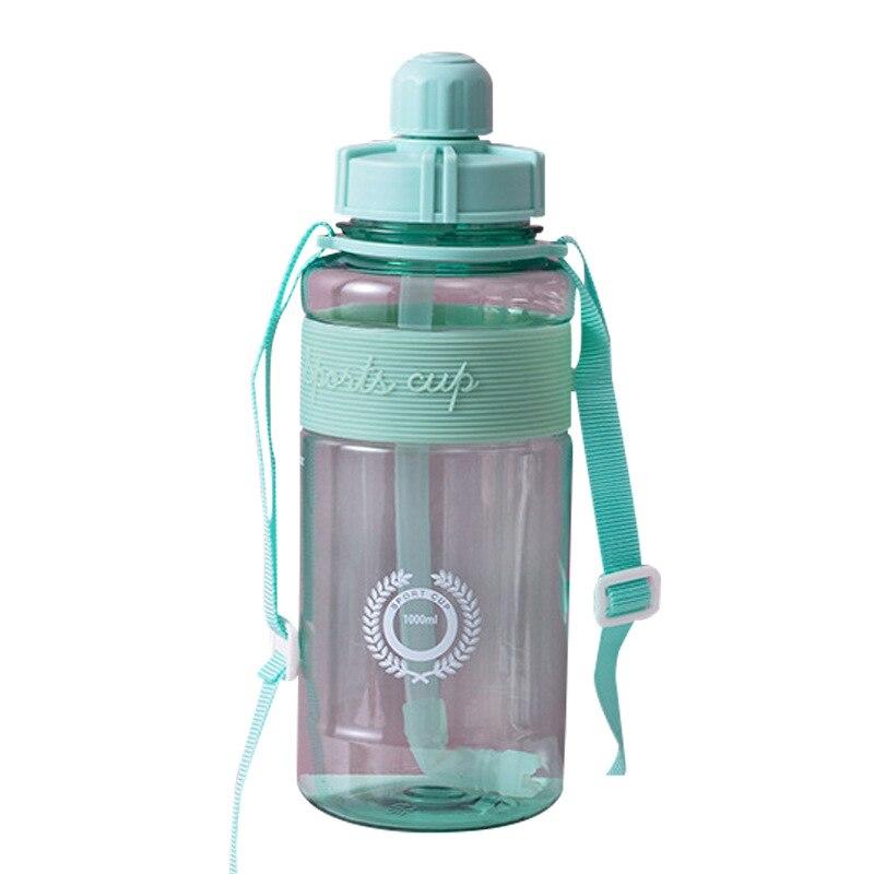 Pajita-botellas De Agua transparentes De plástico para deportes al aire libre, Logo...