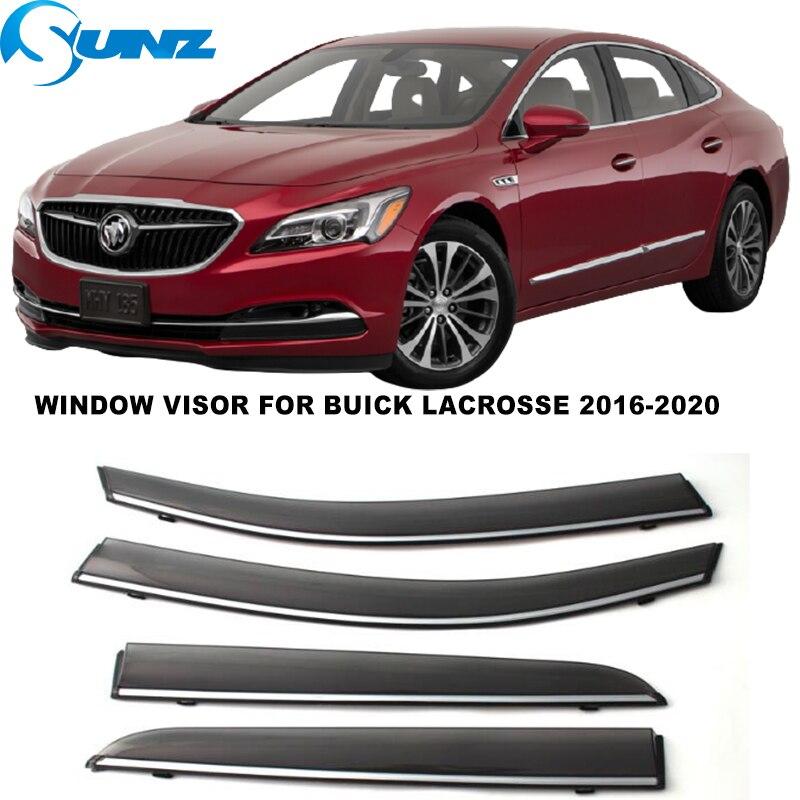 Side Window Visor For Buick Lacrosse 2016 2017 2018 2019 2020 Window Rain Guards Sun Rain Deflector Car Stylings SUNZ