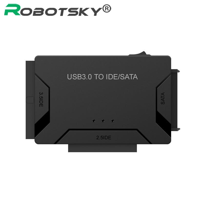 SATA a USB IDE a USB 3,0 2,0 Sata Cable con 12V 2A adaptador de corriente para 2,5 3,5 Disco Duro HDD SSD USB IDE Sata adaptador