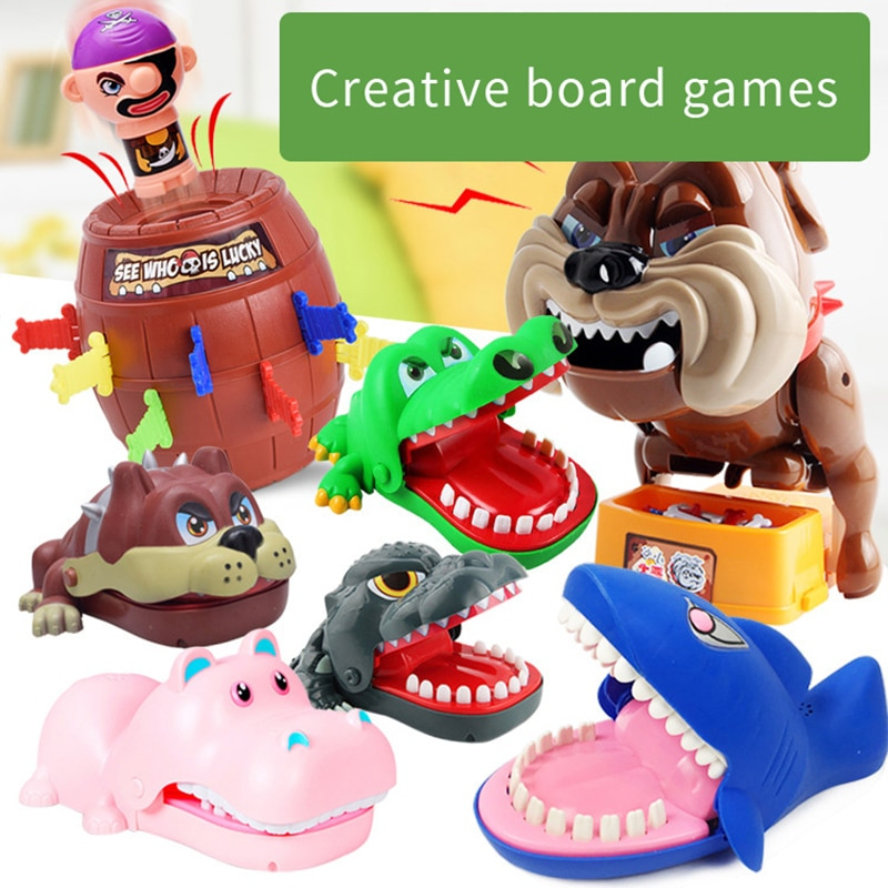 Kids Mouth Bite Finger Toy Decompression Party Game Toys Finger Biting Shark Crocodile Hand Biting Spoof Children's Toys Gift enlarge