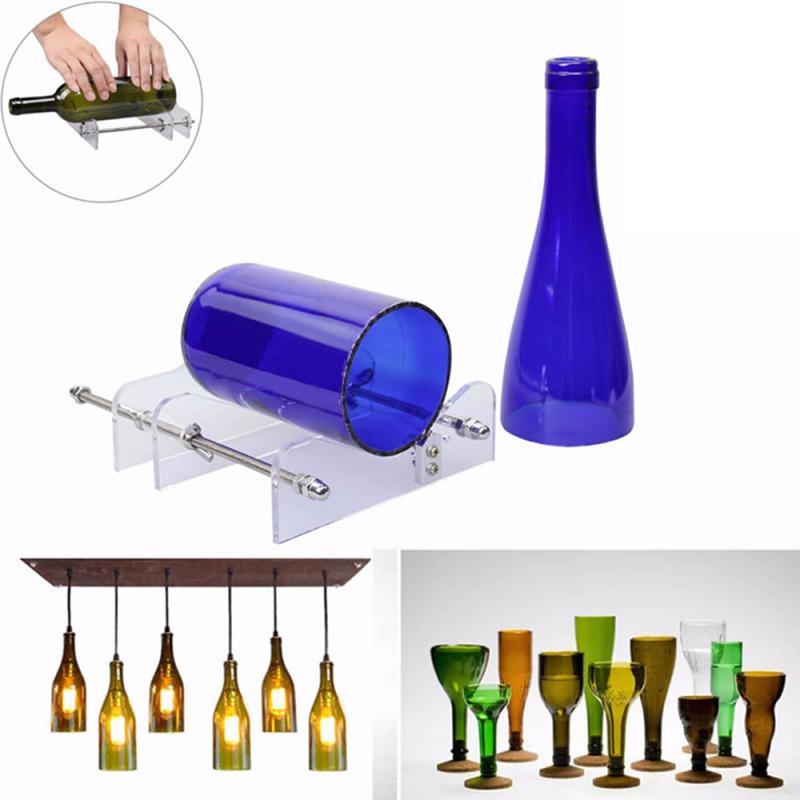Cortador de botellas de vidrio largo, herramienta profesional para cortar botellas de vino, cerveza, cortar botellas de vidrio, artesanías a mano, utensilios de corte DIY