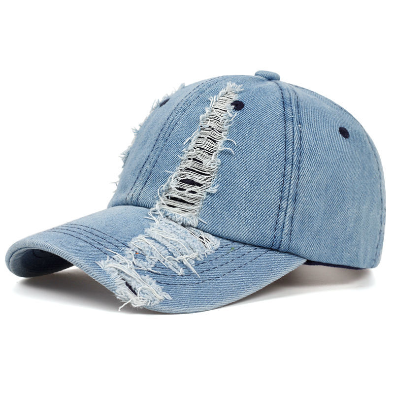 Agujero gorra de béisbol vaquero para hombres verano sol sombrero ajustable gorro...