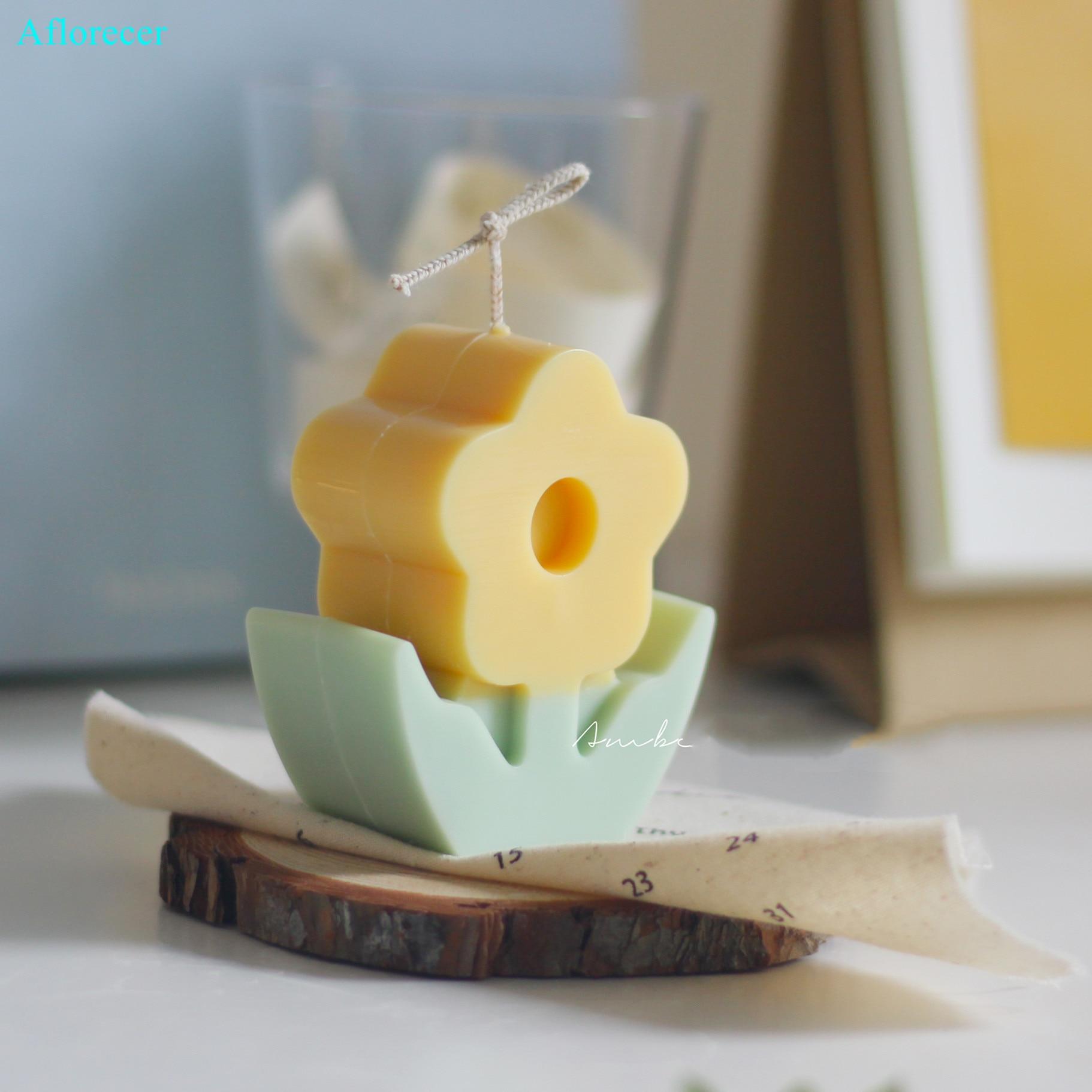 3d Blume kerze formen Koreanische design Acryl kerze form Duft kerze, der Soja wachs kerze form