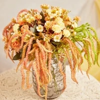 artificial flower length 35cm colorful caterpillar lover tears fake flower home decoration wedding scene vase flower arrangement